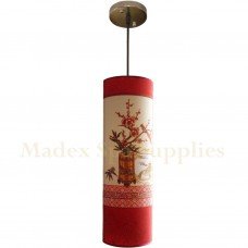 10535B Long Tube Hanging Light (Cherry Flower)