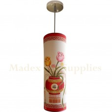 10535F Long Tube Hanging Light (Flowery)