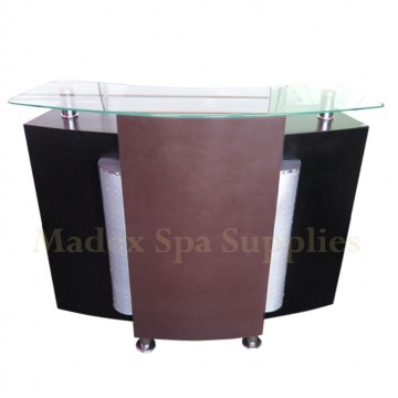 132 Glass Top Reception Desk