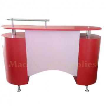 136 Mini Glass Top Reception Desk