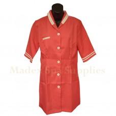 2105 Deep Pink Short Sleeves Woman Uniform