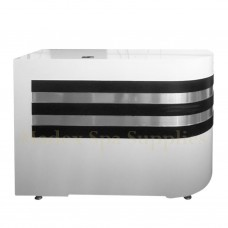 213 Black Stripes Reception Desk