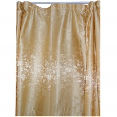 30-106 Gold Floral Fabric Curtain