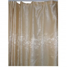 30-107 Light Gold Floral Fabric Curtain