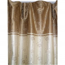 30-108 Brown Bi-Colored Floral Fabric Curtain