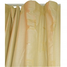 30-109 Golden Patterned Fabric Curtain