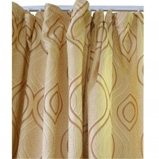 30-110 Golden Waves Fabric Curtain