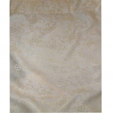 30-111 Peach Golden Floral Fabric Curtain