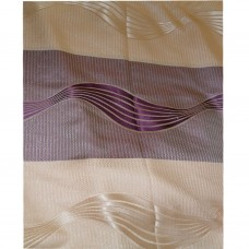 30-112 Purple & Peach Fabric Curtain
