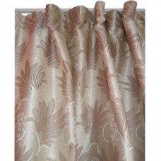 30-113 Sandy Brown Patterned Fabric Curtain