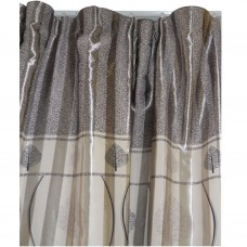 30-114 Silver Bi-Colored Fabric Curtain