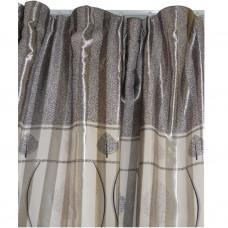 30-114 Silver Bi-Colored Fabric Curtain