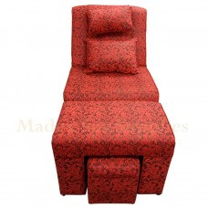 611H Red Floral Fabric Massage Sofa