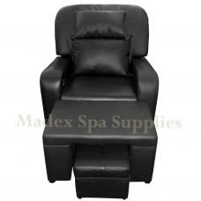 A01-015 Black PVC Leather Massage Sofa