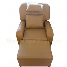 A01-016 Golden Brown PVC Leather Massage Sofa
