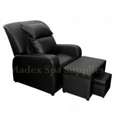 A01 Black PVC Leather Massage Sofa Motorized