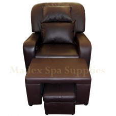 A01 Dark Brown PVC Leather Massage Sofa