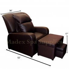 A01 Dark Brown PVC Leather Massage Sofa Motorized