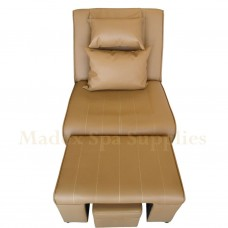 A02 - 007 Coffee PVC Leather Massage Sofa