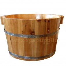 B222 Foot Massage Wooden Bucket