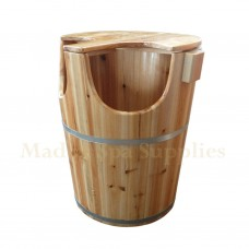 B225 High Wooden Bucket With Cover