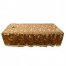 27013 Table Cover (Golden Floral Pattern with Face Hole)