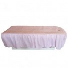 27108 Table Cover (Light Pink Floral Pattern with Face Hole)