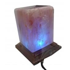 DLA46 Cube Crystal Himalayan Rock Salt Lamp
