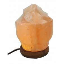 DLA48  Fire Bowl Crystal Himalayan Rock Salt Lamp