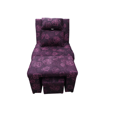 A02 - 003 Purple Floral Fabric Massage Sofa