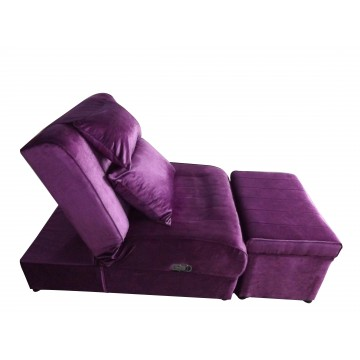 A02 - 004 Purple Flannelette Massage Sofa