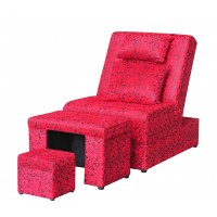A02 - 001 Red Floral Fabric Massage Sofa