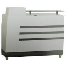 216 Black and white grid Reception Desk